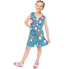 Circles Abstract Color Kids  Tunic Dress