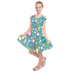Circles Abstract Color Kids  Short Sleeve Dress