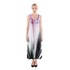 Flower Petals Abstract Background Wallpaper Sleeveless Maxi Dress