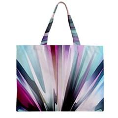Flower Petals Abstract Background Wallpaper Zipper Mini Tote Bag