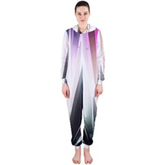 Flower Petals Abstract Background Wallpaper Hooded Jumpsuit (Ladies)