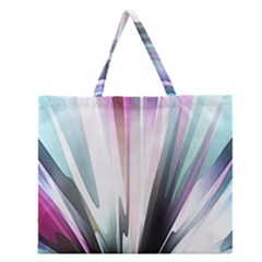 Flower Petals Abstract Background Wallpaper Zipper Large Tote Bag