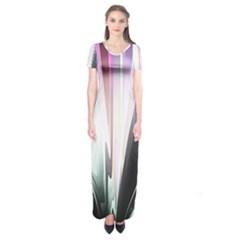 Flower Petals Abstract Background Wallpaper Short Sleeve Maxi Dress