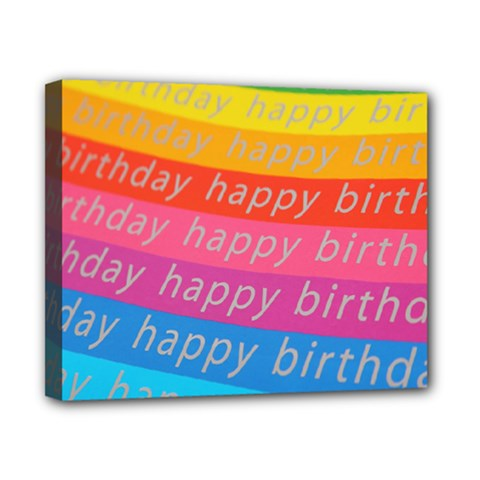 Colorful Happy Birthday Wallpaper Canvas 10  X 8