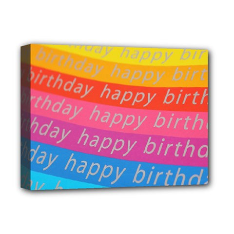 Colorful Happy Birthday Wallpaper Deluxe Canvas 16  X 12