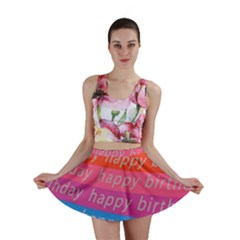 Colorful Happy Birthday Wallpaper Mini Skirt