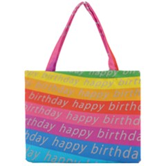 Colorful Happy Birthday Wallpaper Mini Tote Bag