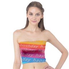 Colorful Happy Birthday Wallpaper Tube Top
