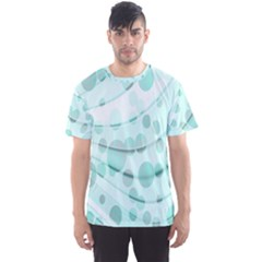 Abstract Background Teal Bubbles Abstract Background Of Waves Curves And Bubbles In Teal Green Men s Sport Mesh Tee