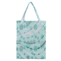 Abstract Background Teal Bubbles Abstract Background Of Waves Curves And Bubbles In Teal Green Classic Tote Bag
