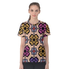 Abstract Seamless Background Pattern Women s Cotton Tee