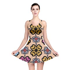 Abstract Seamless Background Pattern Reversible Skater Dress