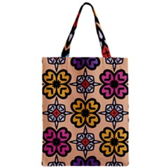 Abstract Seamless Background Pattern Zipper Classic Tote Bag