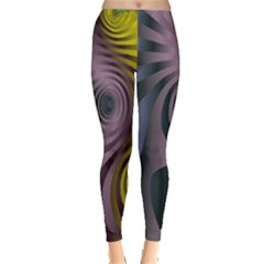 Fractal In Purple Gold And Green Leggings