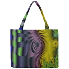 Fractal In Purple Gold And Green Mini Tote Bag