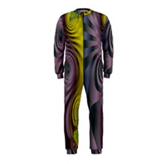 Fractal In Purple Gold And Green OnePiece Jumpsuit (Kids)