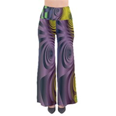 Fractal In Purple Gold And Green Pants