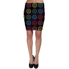 Happy Birthday Colorful Wallpaper Background Bodycon Skirt
