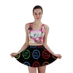 Happy Birthday Colorful Wallpaper Background Mini Skirt
