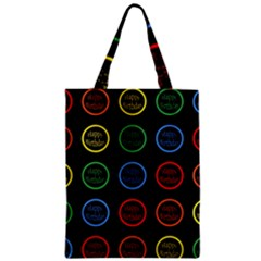 Happy Birthday Colorful Wallpaper Background Zipper Classic Tote Bag