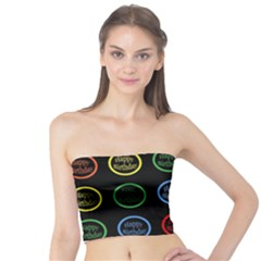 Happy Birthday Colorful Wallpaper Background Tube Top