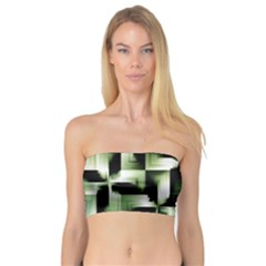 Green Black And White Abstract Background Of Squares Bandeau Top