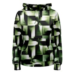 Green Black And White Abstract Background Of Squares Women s Pullover Hoodie
