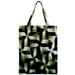 Green Black And White Abstract Background Of Squares Zipper Classic Tote Bag
