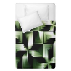 Green Black And White Abstract Background Of Squares Duvet Cover Double Side (single Size)