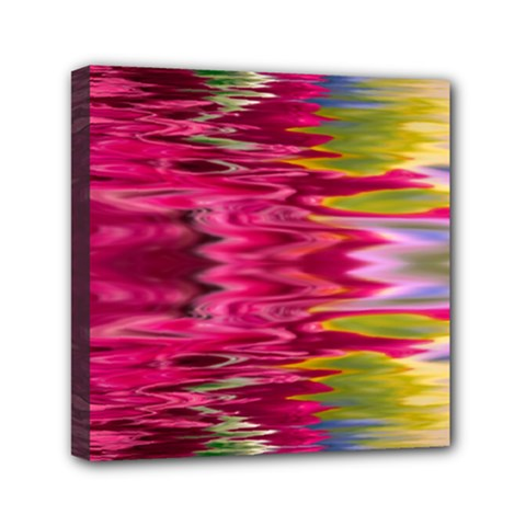 Abstract Pink Colorful Water Background Mini Canvas 6  X 6