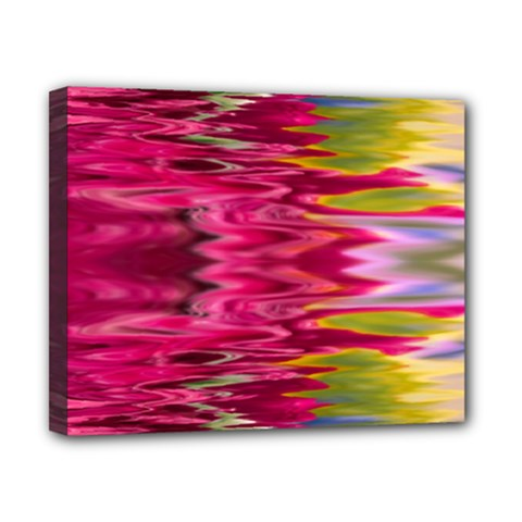 Abstract Pink Colorful Water Background Canvas 10  X 8