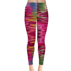 Abstract Pink Colorful Water Background Leggings
