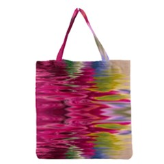 Abstract Pink Colorful Water Background Grocery Tote Bag