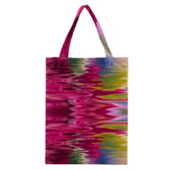 Abstract Pink Colorful Water Background Classic Tote Bag