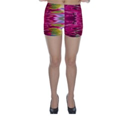 Abstract Pink Colorful Water Background Skinny Shorts
