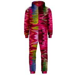 Abstract Pink Colorful Water Background Hooded Jumpsuit (Men)