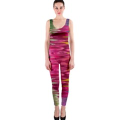 Abstract Pink Colorful Water Background OnePiece Catsuit