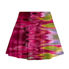 Abstract Pink Colorful Water Background Mini Flare Skirt