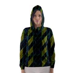 Modern Geometric Seamless Pattern Hooded Wind Breaker (Women)
