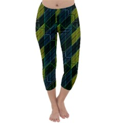 Modern Geometric Seamless Pattern Capri Winter Leggings