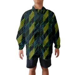 Modern Geometric Seamless Pattern Wind Breaker (Kids)