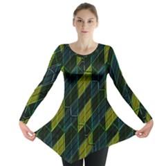 Modern Geometric Seamless Pattern Long Sleeve Tunic