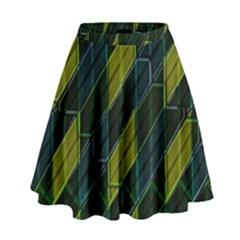 Modern Geometric Seamless Pattern High Waist Skirt