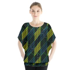 Modern Geometric Seamless Pattern Blouse