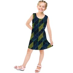 Modern Geometric Seamless Pattern Kids  Tunic Dress