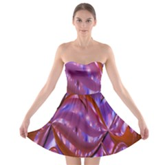 Passion Candy Sensual Abstract Strapless Bra Top Dress