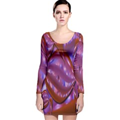Passion Candy Sensual Abstract Long Sleeve Velvet Bodycon Dress