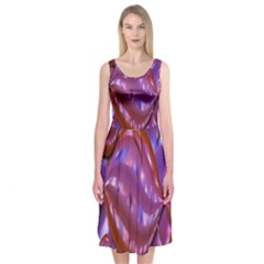 Passion Candy Sensual Abstract Midi Sleeveless Dress
