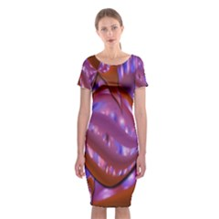 Passion Candy Sensual Abstract Classic Short Sleeve Midi Dress