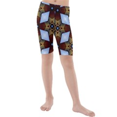 Abstract Seamless Background Pattern Kids  Mid Length Swim Shorts